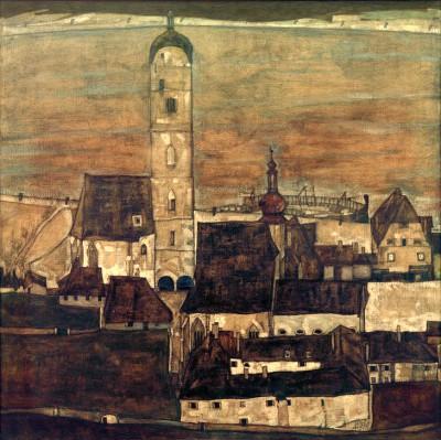 Stadt Stein II - Egon Schiele
