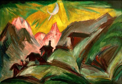 Stafelalp by moonlight - Ernst Ludwig Kirchner