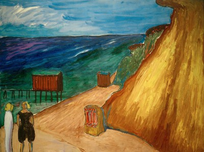 Steep coast of Ahrenshoop - Marianne von Werefkin