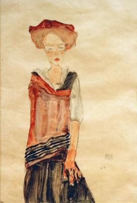 Stehendes Mädchen - Egon Schiele