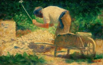 Steinklopfer mit Schubkarre, Le Raincy - Georges-Pierre Seurat