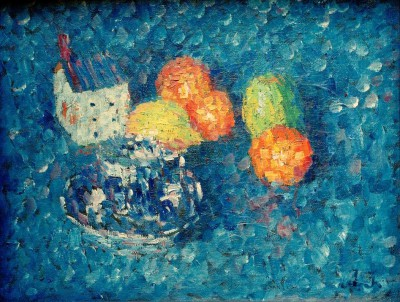 Still life blue-orange - Aleksiej Jawlensky