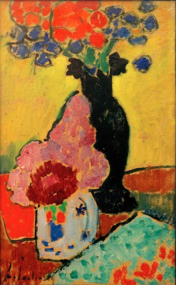 Still life with black vase - Aleksiej Jawlensky