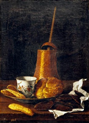 Still life with chocolate service - Luis Meléndez