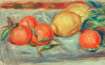 Still life with citrus fruit - Pierre Renoir