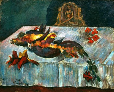 Still life with exotic birds - Paul Gauguin