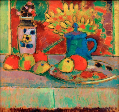 Still life with flowers and fruits - Aleksiej Jawlensky