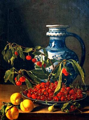 Still life with fruit and jar - Luis Meléndez