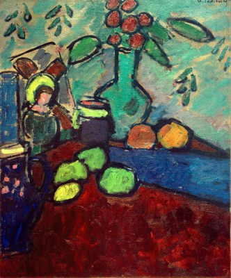 Still life with glass picture - Aleksiej Jawlensky