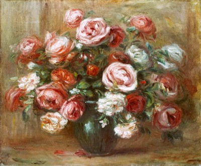 Still life with roses - Pierre Renoir