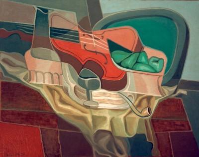 Stilleben (Tisch mit Sessel) - Juan Gris
