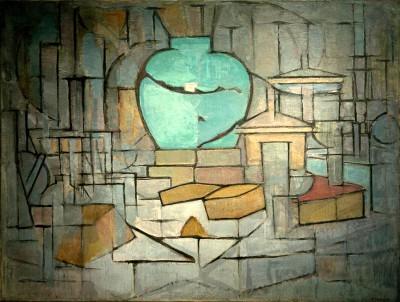 Stilleben mit Ingwertopf II - Piet Mondrian