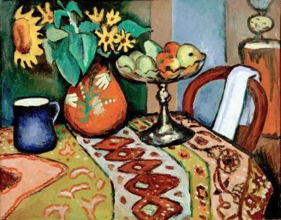 Stilleben mit Sonnenblumen I - August Macke