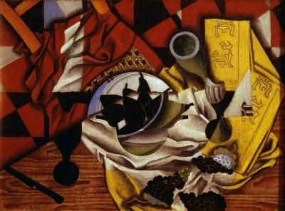 Stillleben mit Trauben und Birnen - Juan Gris
