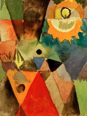 Stilllife with the gas lamp - Paul Klee
