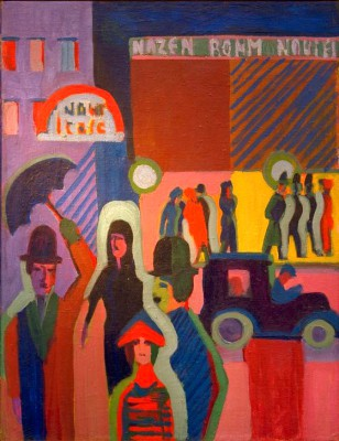 Store in the rain - Ernst Ludwig Kirchner