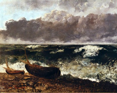Stormy sea or the wave - Gustave Courbet