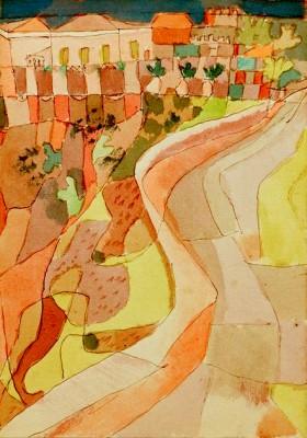 Straße bei Villa Mazzaro - Paul Klee