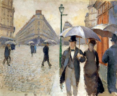 Street in Paris in the rain - Gustave Caillebotte