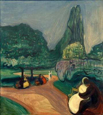 Studenterlunden (Summer night) - Edvard Munch