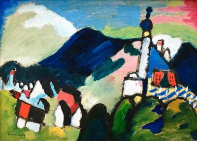 Studie für Murnau mit Kirche II - Wassily Kandinsky