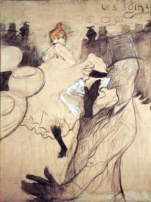 """Studie zu dem Plakat """"Moulin Rouge"""" - Henri de Toulouse-Lautrec"""