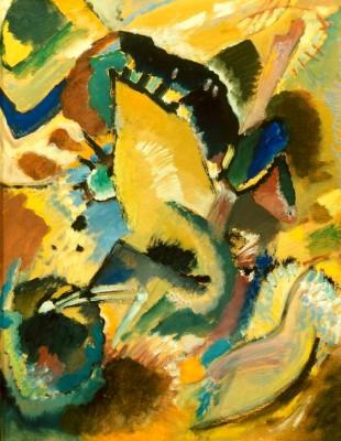 Studie zu dem Wandbild für Edwin R. Campbell Nr. 2 - Wassily Kandinsky