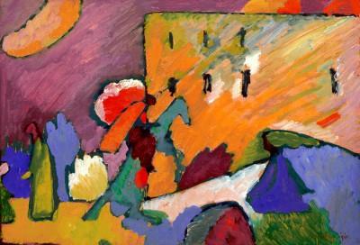 Studie zu Improvisation 3 (Reiter über der Brücke) - Wassily Kandinsky