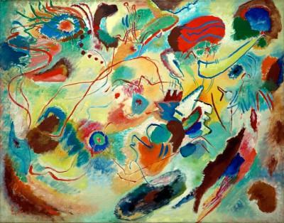 Studie zu Komposition VII - Wassily Kandinsky
