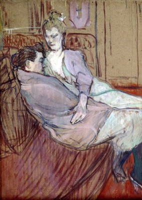Studie zu Zwei Freundinnen - Henri de Toulouse-Lautrec