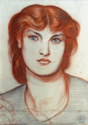 Study for 'Regina Cordium - Dante Gabriel Rossetti