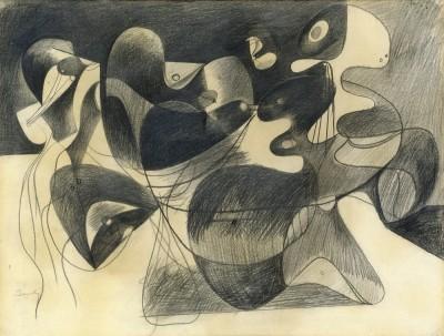 Study for image in Xhorkom - Arshile Gorky