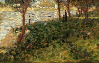Study for left middleground of La Grande Jatte - Georges-Pierre Seurat