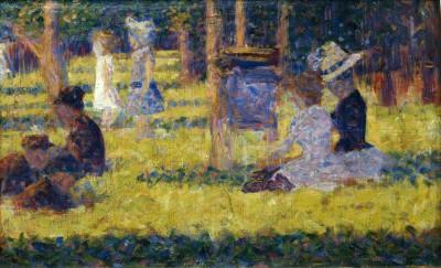 Study for Un dimanche après-midi à la Grande Jatte - Georges-Pierre Seurat
