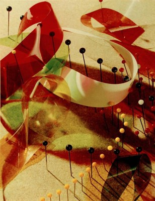Study with Pins and Ribbons - László Moholy-Nagy