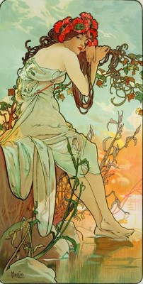 Summer (2) - Alfons Mucha
