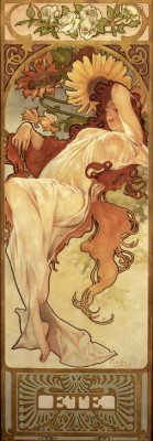 Summer (3) - Alfons Mucha