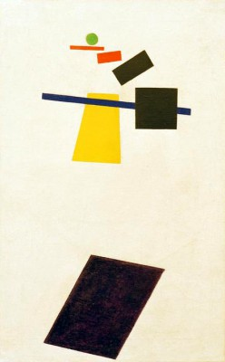 Suprematism Painted realism of a footballer - Kazimierz Malewicz