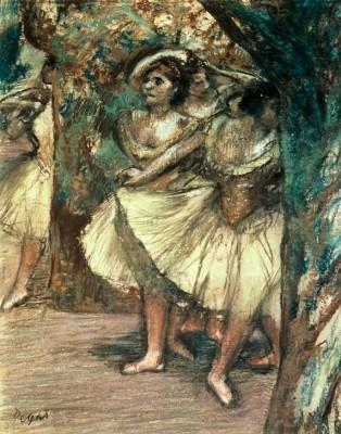 Tänzerinnen in Grün - Edgar Degas