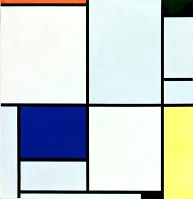Tableau I; Komposition mit Rot, Schwarz, Blau und Gelb - Piet Mondrian