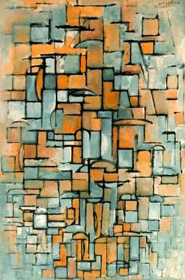 Tableau No. 1; Composition in Linie and Color - Piet Mondrian
