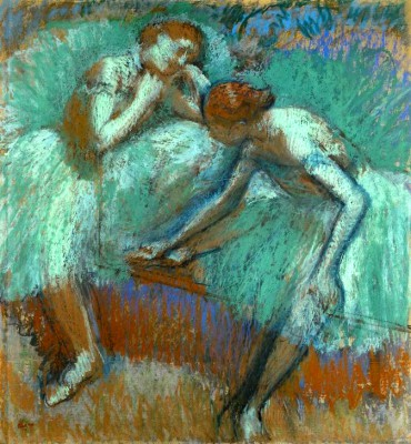 Tall dancers in green - Edgar Degas