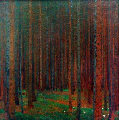 TANNENWALD I (PINE FOREST I) - Gustav Klimt