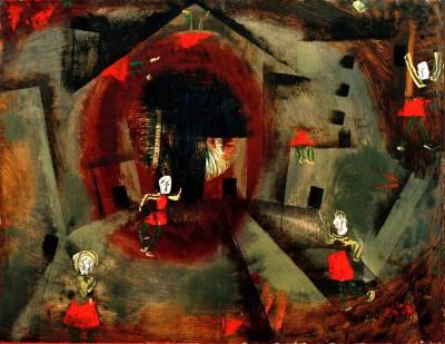 Tanzspiel der Rotröcke - Paul Klee