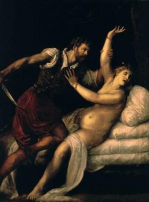 Tarquinius and Lucretia - Tycjan