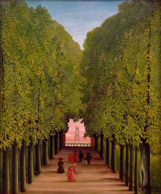 The Allee in Parc à Saint-Cloud - Henri Rousseau