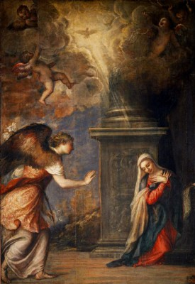 The Annunciation - Tycjan