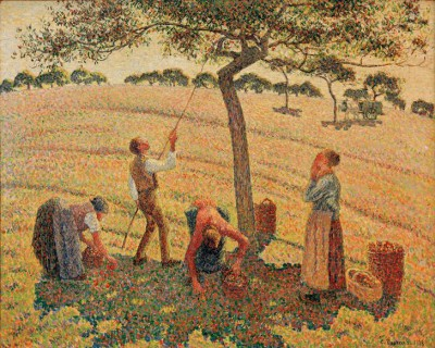 The Apple Harvest, Eragny-sur-Epte - Camille Pissarro