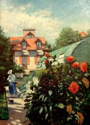 The artist's garden in Petit Gennevilliers - Gustave Caillebotte