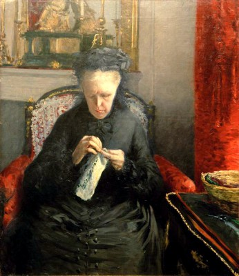 The artist's mother - Gustave Caillebotte